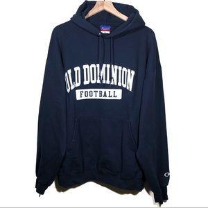 Vtg Champion Old Dominion Monarchs Hoodie Sz XXL